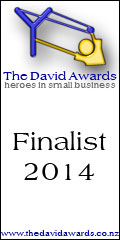 David Awards Finalist - The NZBusiness Most Innovative Business category 2014